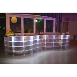 Location bar cristal lumineux