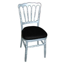 Location chaise Napoléon argent