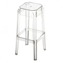 Location tabouret cristal transparent